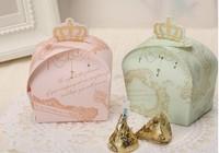FREE SHIPPING Candy Box Crown Princess Wedding Gift Storage Baby Birthday Party Full Month say hi 80pcs/lot 41116