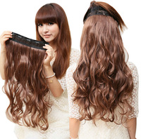 """Best Love One Piece with 5clips Synthetic 24"""" Long Wave Hair Extension Clips In Hair More Colors Can Be Choose More Amazing"""