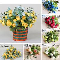 2 bunch Artificial Flowers 10 heads silk Tea rose flowers For wedding home decorative DIY Simulation Flowers supplies wholesale