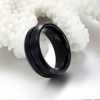 Aliexpress Cool Jewelry All Black Tungsten Steel Men's Ring