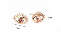 Z-002 fashion three-dimensional rhinestone big eyes stud earring earrings female accessories lovers stud earring