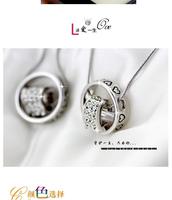 Z-066 fashion small accessories love exquisite peach heart diamond lovers design chain necklace