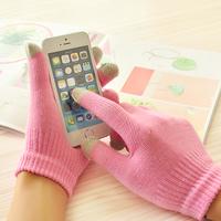 8165 Women winter full mobile phone thermal gloves touch screen gloves