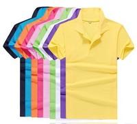 free shipping DIY costumes custom lapel short-sleeved T-shirt custom shirts for male   man polo shirt wholesale clothing
