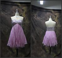 Fashionable Sexy Strapless Off Shoulder Ruffles Chiffon Prom Dress Short Prom Dresses vestido de festa Party Dresses