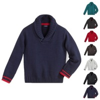 hot sale!Free Shipping,1pcs/lot,children sweater,children brand solid design boys sweater,2-14 year,black gray red green blue