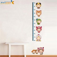 growth chart decals height measurement wall sticker kids cartoon stickers baby room decoration mural art zooyoo605 45*60