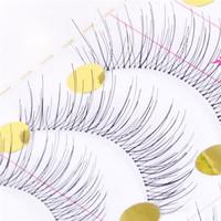 Wholesale 10 Pairs Makeup Handmade Natural Fashion False Eyelashes Soft Long Eye Lash Cosmetic Free shipping