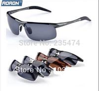 2014 New Hot Selling brand designer Aluminum Magnesium Polarized Goggles Driving sport bike Glasses men sunglasses YJ079