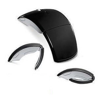 300pcs/lot High Quality Wireless USB Optical Foldable Arc Mouse For Laptop and Desktop Computer DHL FEDEX UPS free shipping