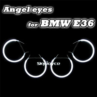 4PCS/set E36/E38/E39/E46 Projector CCFL angel eyes drl white 6500K 12V halo rings drl car styling accessories auto bulb