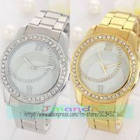 100pcs/lot Simple Design Ladies Crystal Watch Fashion Quartz Alloy Dress Watch Wrap Casual Wristwatch Stylish Design Clock