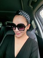 free shipping lady fashion cotton twist sewed headband, women houndstooth with PU leather headband