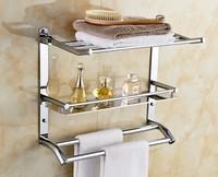 Dayton Sanitary Stainless Steel Bathroom Shelves Towel Racks Trip lier Storage Shelf Metal Hanging Quality Free shipping