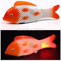 Electric Music Fish swim Luminous body Wonderful music Vocalization Swing swimming Two AA  Electronic simulation fishHot Popula