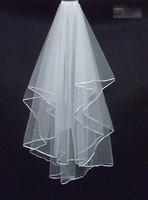 The new 2015 high quality 1.5 meters long The bride veil White veil with a comb Free shipping