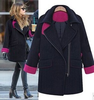 2015 Winter jacket for fashion ladies long sleeve turn down collar thick coat outwear cardigans women clothing plus size XL-5XL