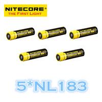 FREE SHIPPING  ORIGINAL 5 pcs nitecore NL183 18650 Li-ion Rechargeable Battery 2300mAh 3.7V 8.5Wh