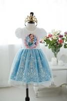 2014  summer new casual dress Princess Dresses Children girls' Clothing Elsa Frozen Dress Elsa Dress For Girl vestidos