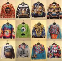New 2015 Brand Fashion Sweatshirts For Men/women Pullovers 3D Hoodies Sweatshirts Animal Pattern Hoodie Skeletons Starry Sky