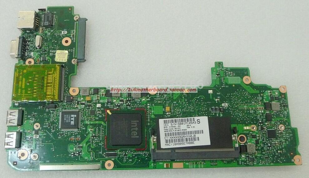 579568-001 netbook motherboard for HP mini 110C MINI 1101 MINI 110 laptop motherboard with intel cpu Atom N270(China (Mainland))