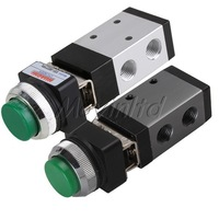 Small Frictional PT1/4 Green Push Button Pneumatic Mechanical Valve MSV-98322PPL