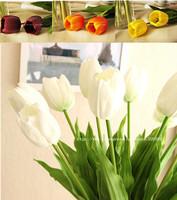 High Quality tulip flower real touch wedding flower 30PCS/LOT pu 63cm artificial flower silk flower home decoration