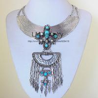 2014 tattoo choker collar chunky vintage turkish coin bib fashion boho jewelry for women statement Necklaces & pendants LM-SC979
