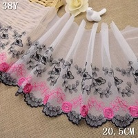 Free shipping! 201412 New arrival! Delicated floral embroidery lace Lace DIY garment accessories hexagonal bottom