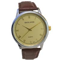 fashion brown band belt gold dial top luxury man watch 2015 new small big size classic japan quartz woman unisex wristwatch hour