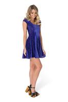 2015 new Black Milk women dress sleeveless casual dress blue  velvet printing dresses F88