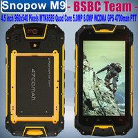 2015 New Snopow M9 4.5 inch 960x540 pixels MTK6589 Quad Core 1.3GHz 1GB 4GB  PTT Walkie Talkie WCDMA 4700mah GPS Cestina Slovka