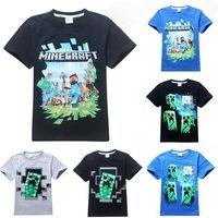 Retail!!! 2015 new Cartoon Boys kids T-shirt Short Sleeve Cotton Children's Clothes Summer T Shirts 8084