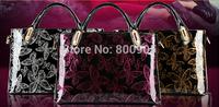 retail fashional women patent leather handbags  lady shoulder  messenger bags , woman  tassel ladies butterfly hand bag