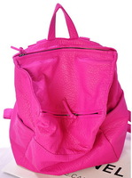 New arrival fashion European and American Style Casual black and rose red color PU leather backpack/travel bag WLHB904