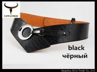 newest belts for women cummerbund female mental buckle genuine leather famous brand cintos feminios strap for jeans waistband