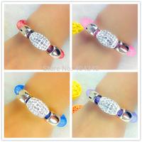 Hot 2015 Micro Resin Crystal Beads With Stardust Bracelet  For Women Charm Magnetic Snap Bracelets Mesh Bracelets Bangles