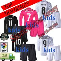 Jersey Real Madrid Kids Black Dragon 2015 Pink Ronaldo Bale KROOS JAMES Rodriguez Real Madrid Kids Long sleeve 14 15 Jersey