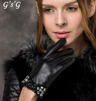 GSG   Ms.     Thick warm winter sheepskin gloves bow section   IGSSBW14231