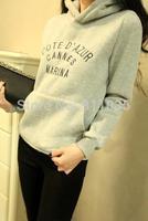 free shipping !South Korea fashion letters sports leisure fleece bonnet blouses