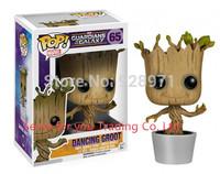 Genuine Brand Guardians Of The Galaxy Toy Figure DANCING GROOT Bobble Head/Marvel Groot ROCKET RACCOON Christmas Gift Custom