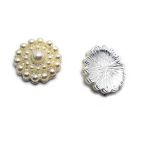 New 30pcs lot free shipping pearls alloy charm flatback button costume ornament accessories