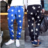 2015 New Men Printed Drop Crotch Harem Skinny Sweatpants Sports Baggy Pants Mens Casual Hip Hop Joggers Silm Bandana Trousers