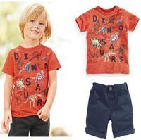 Retail 2015 new arrive children boys summer clothing set Children pants +sleeveless shirts 2 pcs set  children cotton cloting