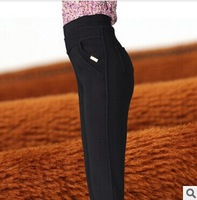 2015 Spring Winter Women Leggings elastic waist Plus size Female Trousers Mother Pants  twill bamboo charcoal thick Plus velvet