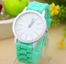 Drop Shipping  Hot Sale Classic Style Geneva Silicone Jelly Watch Women Fashion Casual Beautiful Color Quartz Watch Wristwatch
