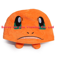 New Arrival Retail 34CM Pokemon Charizard Plush Hat Winter Dragon Cosplay Cap For Adult Free Shipping