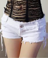 Nightclub tight  low waist shorts Spice girls sexy bull-puncher knickers package buttocks short shorts denim