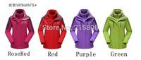 2014 The new winter women triad ski-wear, wind proof wear-resisting fleece  two piece suit 053