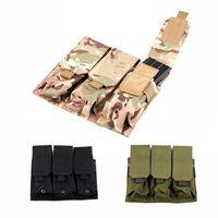 Tactical Mag Magazine Pouch Molle Bag Triple M4 5.56mm For Pistol Handgun 3 Color